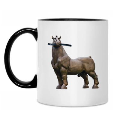 Кружка Конь жует рельсу