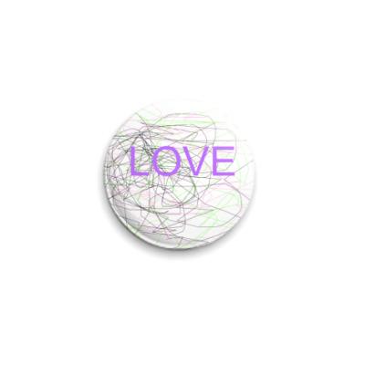 Значок 25мм  'Love'