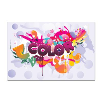 Наклейка (стикер) Color