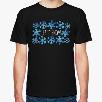 Футболка Let it snow/ снежинки