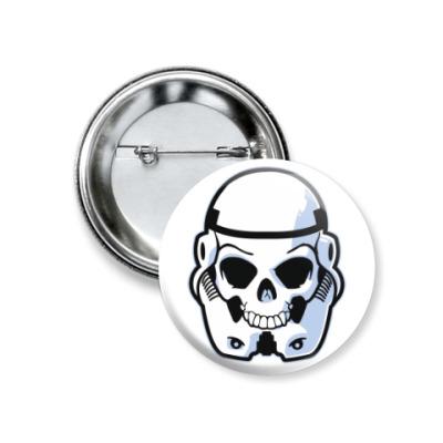Значок 37мм Trooper Skull