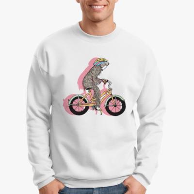 Свитшот Ленивец на велосипеде