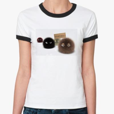 Женская футболка Ringer-T Пушистики
