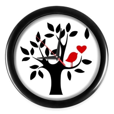 Настенные часы Любовь птички