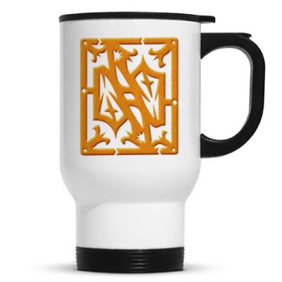 Кружка-термос Золотой орнамент