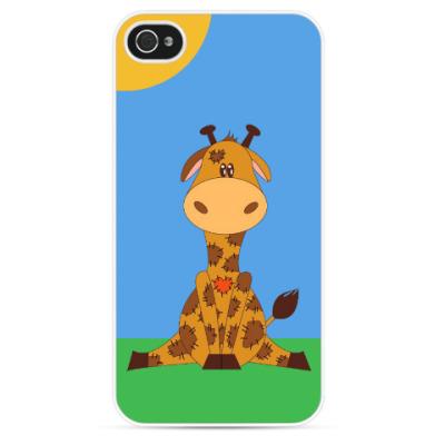 Чехол для iPhone Плюшевый жираф