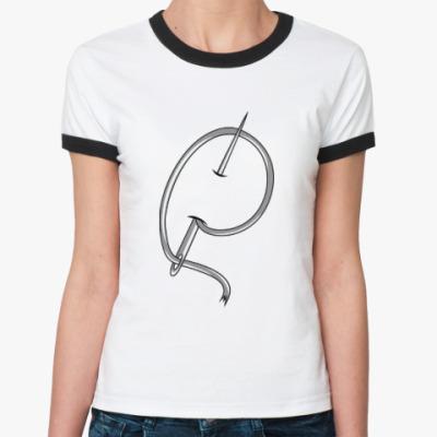 Женская футболка Ringer-T Игла и нить