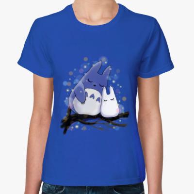 Женская футболка Спящие Тоторо