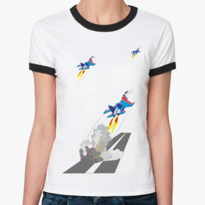 Женская футболка Ringer-T Русские Витязи
