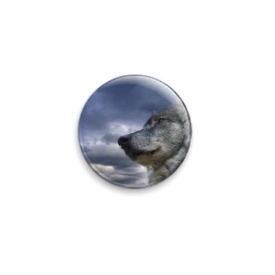 Значок 25мм  'Волк'