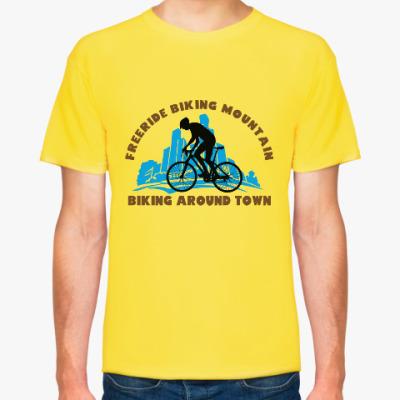 Футболка biking around town