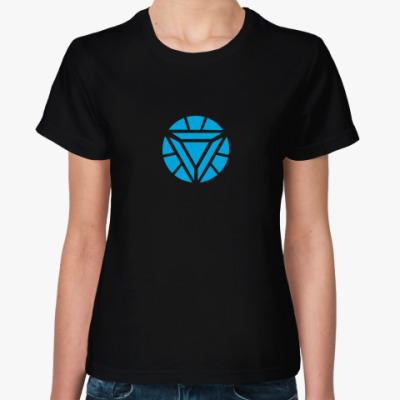 Женская футболка Реактор Железного человека