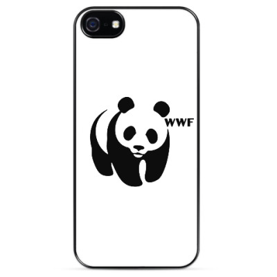Чехол для iPhone WWF. Панда с лого.