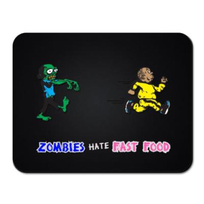 Коврик для мыши Зомби ненавидят быструю еду