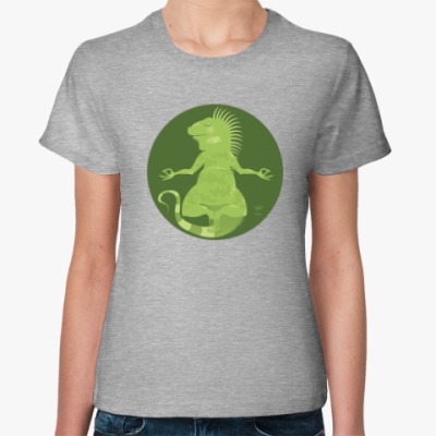 Женская футболка Animal Zen: I is for Iguana