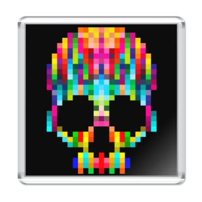 Магнит Pixel Skull