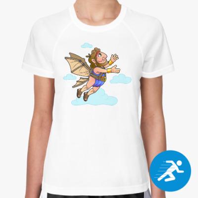 Женская спортивная футболка Икар
