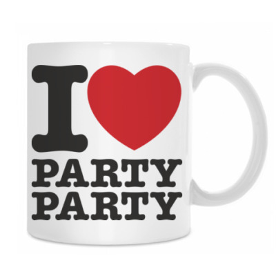 Кружка I LOVE PARTY PARTY