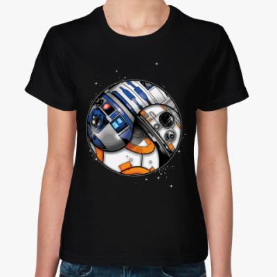 Женская футболка Дроиды (Звездные Войны)