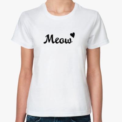 Классическая футболка Меош / Meow