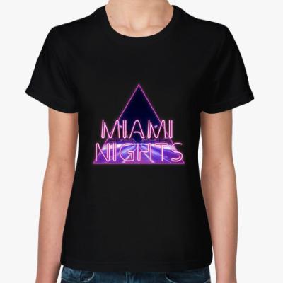Женская футболка Ночи в Майами