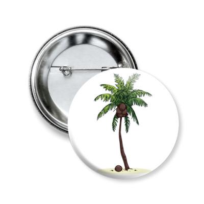 Значок 50мм Кокосовая пальма