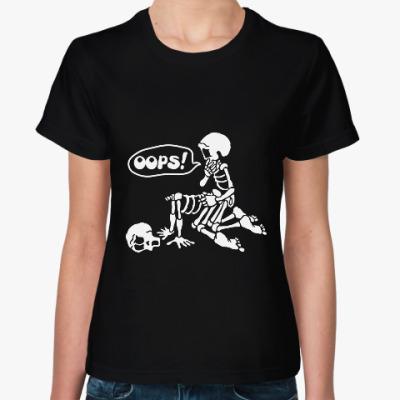 Женская футболка Парочка скелетов