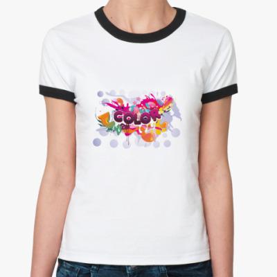 Женская футболка Ringer-T Color