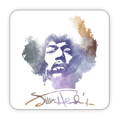 Костер (подставка под кружку)  Jimi Hendrix - Джими Хендрикс