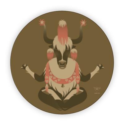 Костер (подставка под кружку) Animal Zen: Y is for tibet Yak