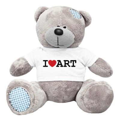 Плюшевый мишка Тедди Мишка I Love Art