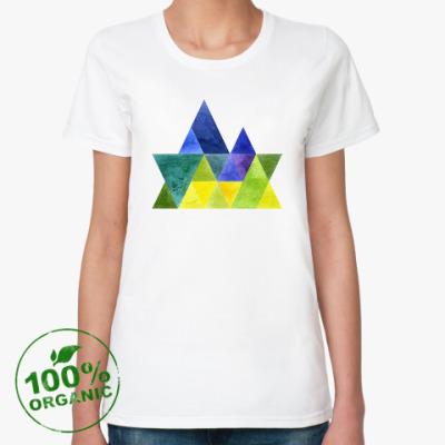 Женская футболка из органик-хлопка Весна в горах
