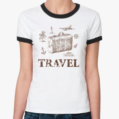 Женская футболка Ringer-T Путешественник