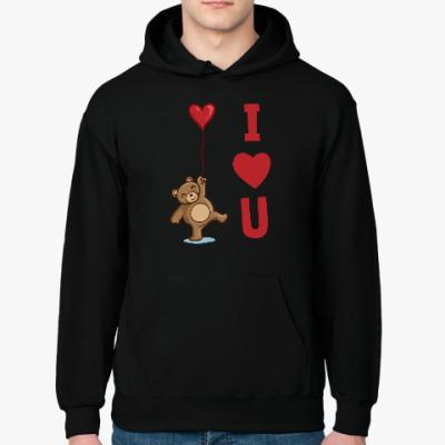 Толстовка худи Мишка - I love you