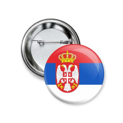 Значок 37мм Сербия