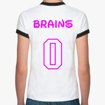 Женская футболка Ringer-T Zero Brains