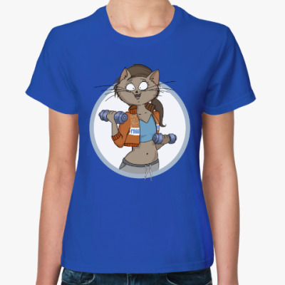 Женская футболка фитоняша