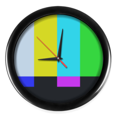 Настенные часы принт Шелдона 'TVbars'