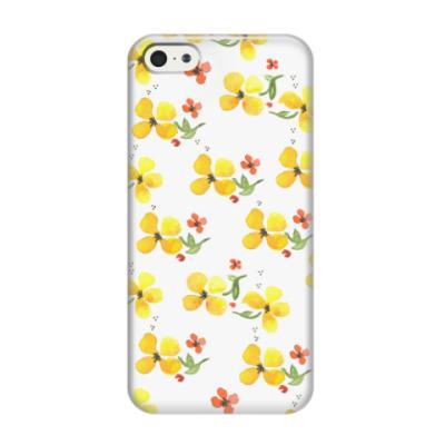 Чехол для iPhone 5/5s Акварельные цветы