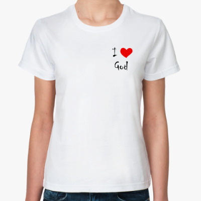 Классическая футболка I love God