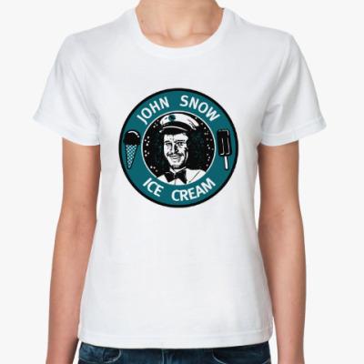 Классическая футболка Джон Сноу - Мороженое