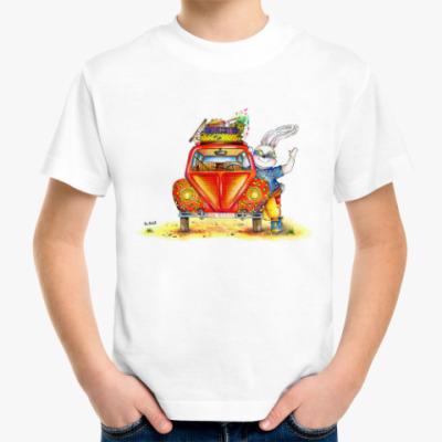 Детская футболка Кролик отправляется в путешествие
