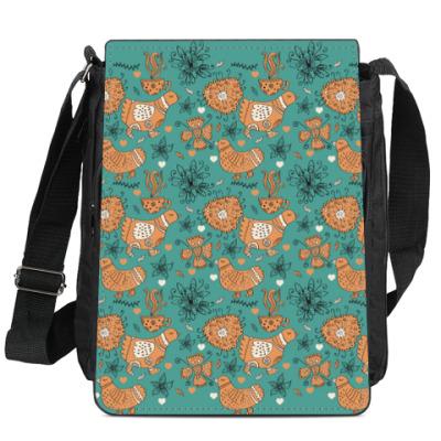 Сумка-планшет Птицы и цветы