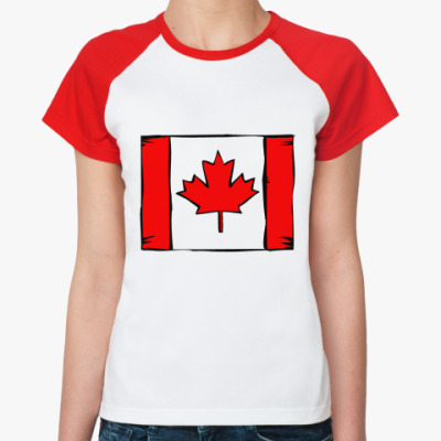 Женская футболка реглан Canadien
