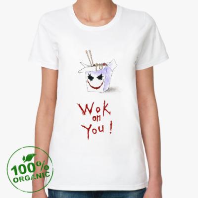Женская футболка из органик-хлопка Джокер-вок