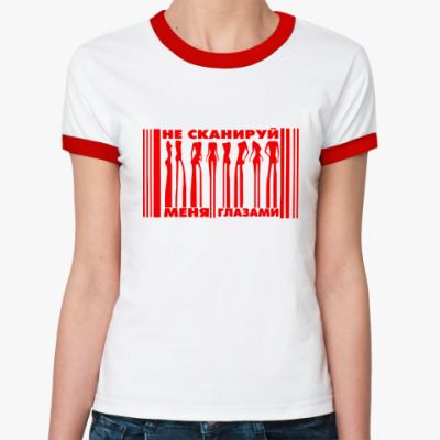 Женская футболка Ringer-T 'Скан'