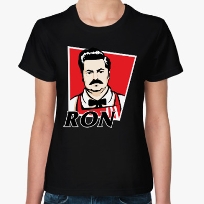 Женская футболка Рон Свонсон