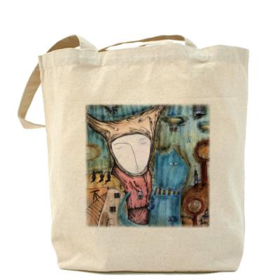 Сумка Холщовая сумка Синий кот