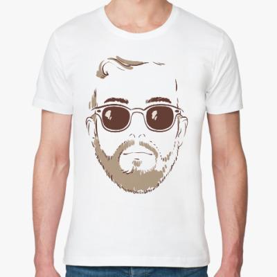 Футболка из органик-хлопка Лицо с бородой