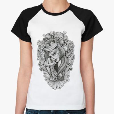 Женская футболка реглан Mouses Crown
